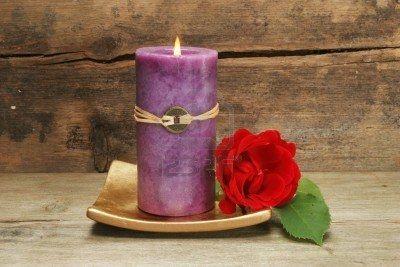 velas violetas