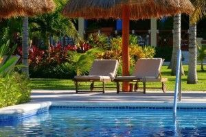 hamaca piscina verano