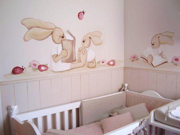 C mo dar vida a una pared blanca adornos para decorar - Murales pintados a mano ...