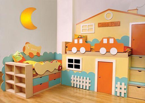 Espacios divertidos en habitaciones para ni os - Habitaciones de ninos decoracion ...