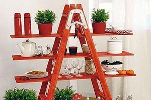 Las escaleras de mano, un interesante elemento decorativo