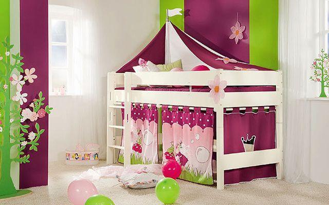 Decora habitaciones infantiles decoracion for Cama infantil nina