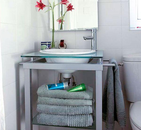 Estantes Para Baño Pequeno: para Que Baños Pequeños Sean Bellos y Funcionales