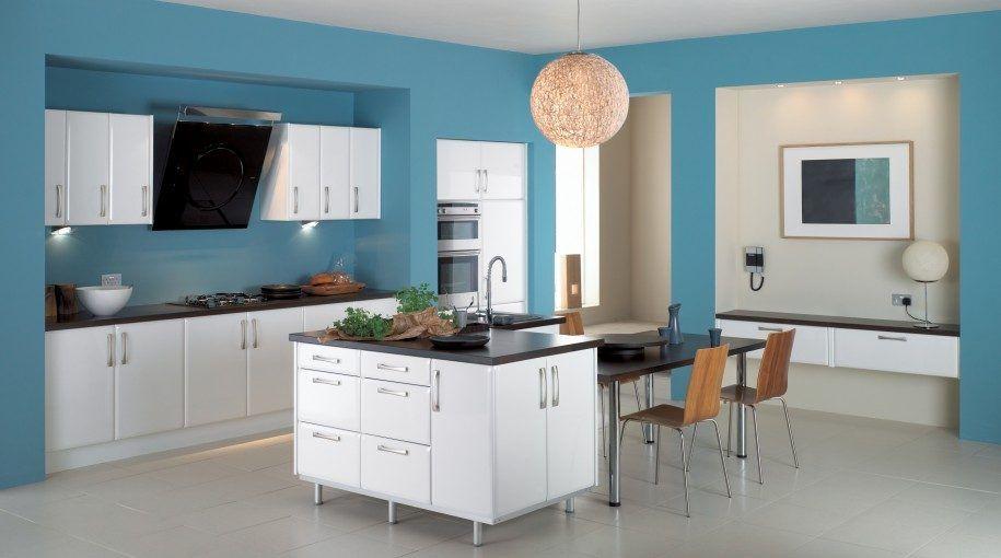 decoracion de cocina azul marino |