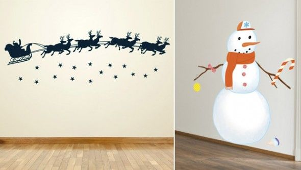 Decorar las paredes en navidad decoracion de mi casa consejos para decorar - Paredes decoradas con vinilos ...