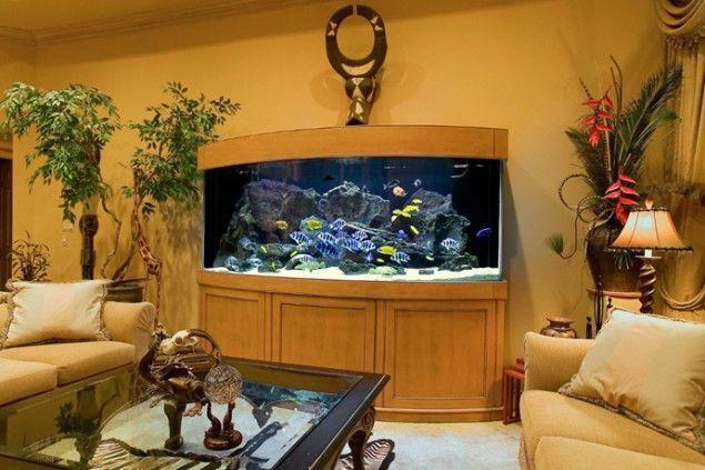 decoracion de casa con acuario