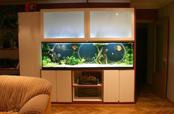 decoracion con acuario