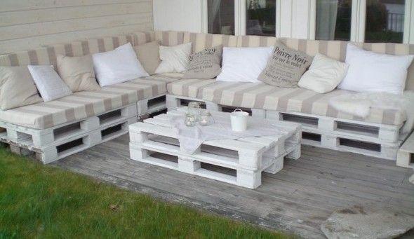 como hacer un sofa con palets