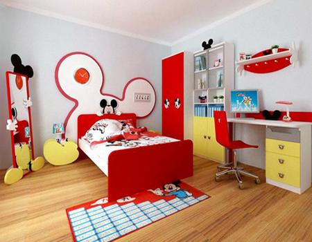 Cómo decorar una HABITACIÓN de NIÑOS con temática de Mickey Mouse ...