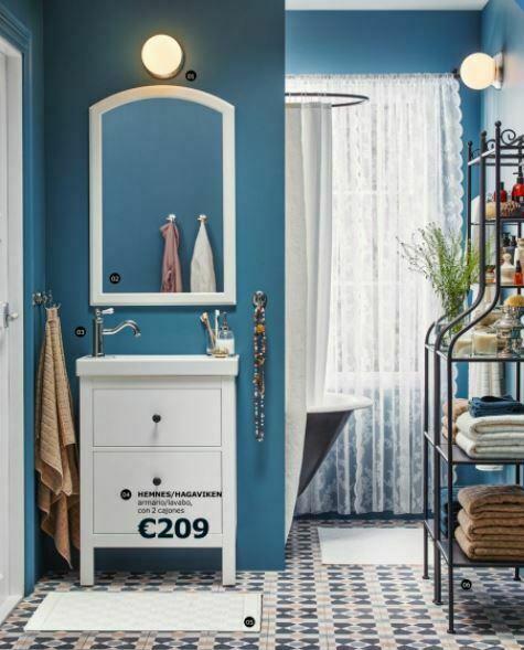 Baño en azul de Ikea