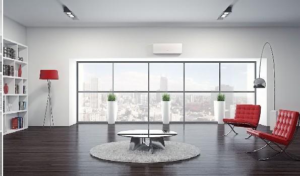aire acondicionado Fujitsu en salon