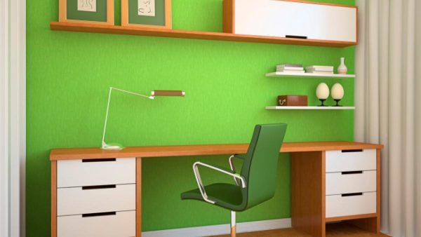 Pintar paredes para trabajar en casa
