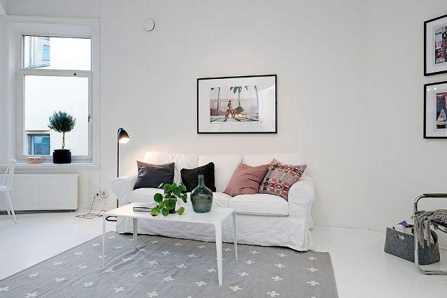 Decoracion minimalista en apartamento